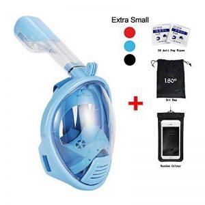 180degrés de plongée Tuba par vaporcombo sans haleine, Anti-Buée et anti-fuite pour plongée masque W/fixation GoPro + sans accessoires de la marque Vaporcombo image 0 produit