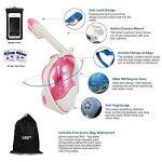 180degrés de plongée Tuba par vaporcombo sans haleine, Anti-Buée et anti-fuite pour plongée masque W/fixation GoPro + sans accessoires de la marque Vaporcombo image 1 produit