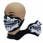 7X à Produit Original - Masque Protection Demi Cagoule Neoprene Ghost Tete de mort - Skull - Taille unique réglable - Airsoft - Paintball - Outdoor - Ski - Snow - Surf - Moto - Biker - Quad de la marque 7X image 1 produit
