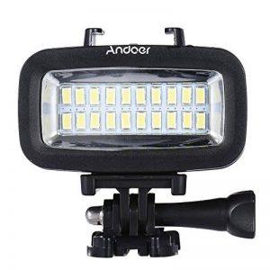 Andoer haute puissance 700LM plongée vidéo Fill-in Light LED éclairage lampe étanche 40M 1900mAh batterie Rechargeable intégrée avec diffuseur pour GoPro romaric Yi Sport Caméra d'Action de la marque Andoer image 0 produit
