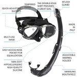 Cressi Perla Mare Noir, PREMIUM Masque et Tuba Adulte Plongée Snorkeling, Kits de Randonnée Aquatique de la marque Cressi image 1 produit