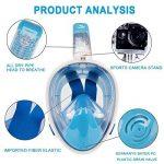 Elite O&S Masque intégral de snorkeling avec tuba pour adultes et enfants - Respiration naturelle, anti-buée, anti-fuite, vision panoramique à 180° de la marque Elite O&S image 2 produit
