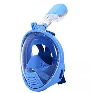 Enfants jeunesse intégral plongeon natation, plongée avec tuba masque anti buée anti-fuite Design Compatible pour Gopro caméra d'Action pour 5 à 15 ans vieux Bleu de la marque Vococal image 0 produit