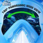 Ensemble de plongée pour adultes et enfants Masque anti-buée étanche avec vision panoramique 180° Étui étanche pour téléphone et adaptateur GoPro inclus de la marque iClique image 4 produit