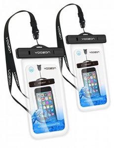 Etui étanche [2 Pack], Yoozon IPX8 Pochette imperméable Housse étanche universel sac étanche imperméable/plongée/à l'eau complète transparence touche sensible pour iphone 7/7Plus, 6/6s plus, 5s, SE, Galaxy S8/S8 +/S7/Huawei et autre téléphone de la marque image 0 produit