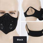 Ewolee Masque de Sport Protection Respiratoire Masque filtre à air de polluants, Masque Anti-pollution Anti-vent Anti-poussière pour Vélo Sport Moto cyclisme Activités en Plein Air, Noir de la marque Ewolee image 1 produit