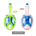 HOVNEE Masque et tuba 180 ° sans respirer de conception de masque et tuba Masque de plongée de la marque HOVNEE image 4 produit