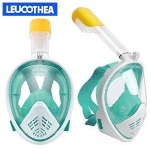 Leucothea Masque sous-marin de plongée sous-marine Plein visage masque tuba Set anti-fuite et anti-buée avec tube de ventilation compatible pour les appareils photo de sport de la marque Leucothea image 0 produit