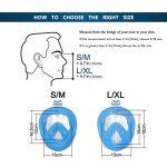 Masque de plongée, 180°view Masque Snorkeling Plein Visage, Design Panoramique Compatible GoPro Masque Plongée avec Technologie Anti-Buée et Anti-Fuite pour Adultes et Enfants de la marque flyboo image 3 produit