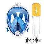 Masque de plongée, 180°view Masque Snorkeling Plein Visage, Design Panoramique Compatible GoPro Masque Plongée avec Technologie Anti-Buée et Anti-Fuite pour Adultes et Enfants de la marque flyboo image 4 produit