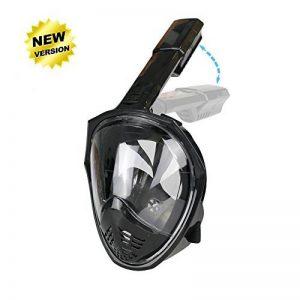 Masque de plongée panoramique intégral, ZMZTec 2018 NOUVEAU pliable Masque de plongée Plein Visage 180° , anti-buée et anti-fuite, Snorkel masque de plongée libre respirant de la marque ZMZTec image 0 produit