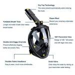 Masque de plongée panoramique intégral, ZMZTec 2018 NOUVEAU pliable Masque de plongée Plein Visage 180° , anti-buée et anti-fuite, Snorkel masque de plongée libre respirant de la marque ZMZTec image 2 produit