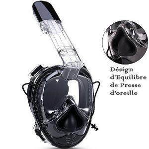 5e71ae0a4ec2bc Masque de Plongée Visage Entier - Anti-Buée Masque de Plongée avec  180°Vision et Désign d Equilibre de Presse d oreille - Lunettes et Masque  de Plongée 2 ...