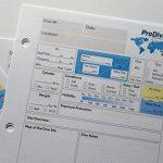 Recharge Carnet de plongée PADI standard pages 25pages 50Dives 3Trou de la marque ProDive image 2 produit