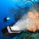 Suptig étanche lumière haute puissance intensité variable batterie 5200mAh étanche LED Video Light Fill Veilleuse plongée sous-marine lumière pour GoPro Hero 5Hero 4Hero 3+ Hero 3et SJCAM ou YI Caméras d'action de la marque Suptig image 3 produit