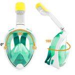 TECHMAX Masque de Plongée visible Panoramique pour Adultes Jeunesse Vert L/XL de la marque MaxTech image 4 produit