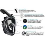 TRITINA Seaview 180 ° masque de plongée avec goPro Mount, masque de plongée antibrouillard Full Face Easy Breath de la marque TRITINA image 3 produit