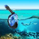 WEYN Masque de Plongée en Silicone Liquide Plein Visage Unisex 180° Visible,Antibuée et Anti-fuite Sous-Marine, avec la Monture pour Caméra Gopro (L/XL, S/M) de la marque WEYN image 1 produit