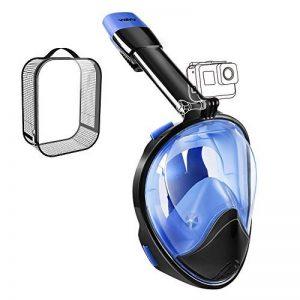 WEYN Masque de Plongée en Silicone Liquide Plein Visage Unisex 180° Visible,Antibuée et Anti-fuite Sous-Marine, avec la Monture pour Caméra Gopro (L/XL, S/M) de la marque WEYN image 0 produit