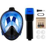WEYN Masque de Plongée en Silicone Liquide Plein Visage Unisex 180° Visible,Antibuée et Anti-fuite Sous-Marine, avec la Monture pour Caméra Gopro (L/XL, S/M) de la marque WEYN image 6 produit